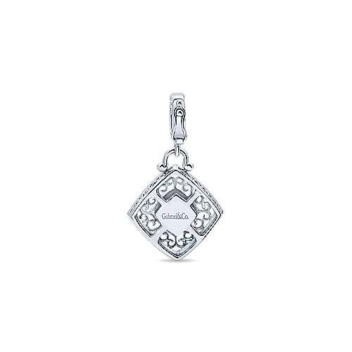 925 Silver Victorian Fashion Pendant angle 2