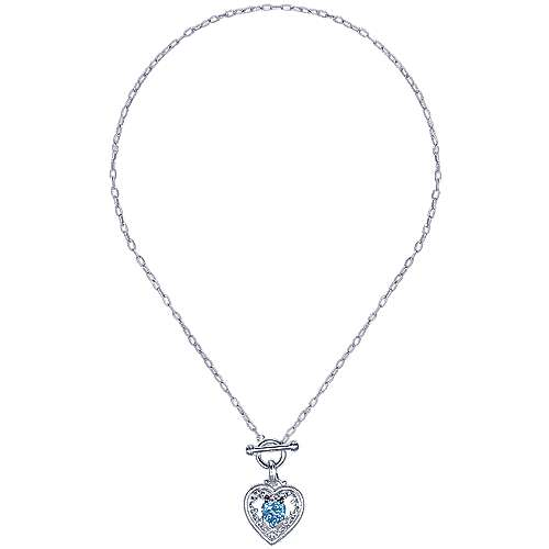 925 Silver Victorian Heart Necklace angle 2