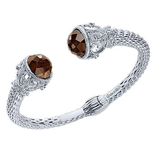 925 Silver Victorian Hinged Cuff Bangle