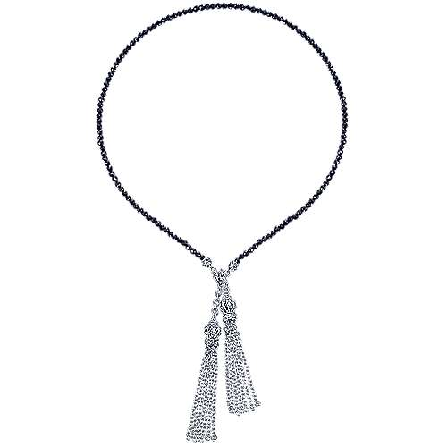 925 Silver Victorian Lariat Necklace angle 2