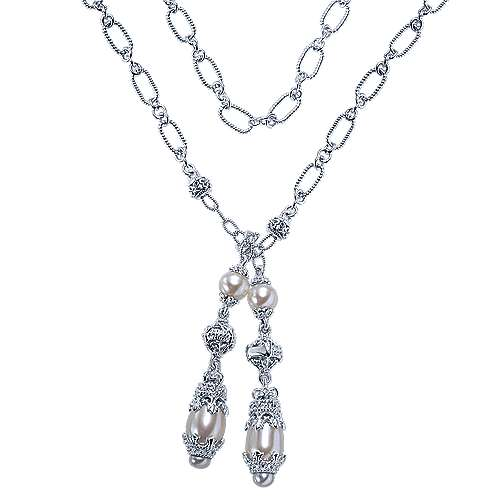 925 Silver Victorian Lariat Necklace
