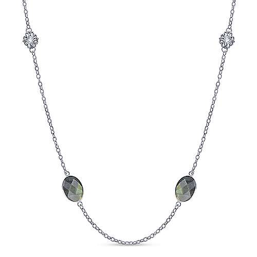 925 Silver Victorian Station Necklace
