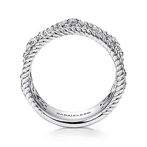 925 Silver Victorian Wide Band Ladies' Ring angle 2