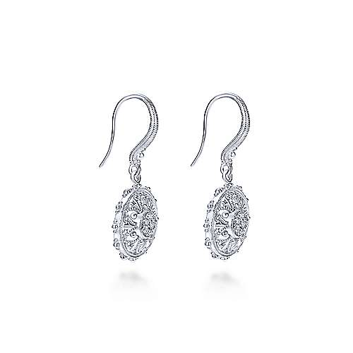 925 Silver WS Earrings        angle 2