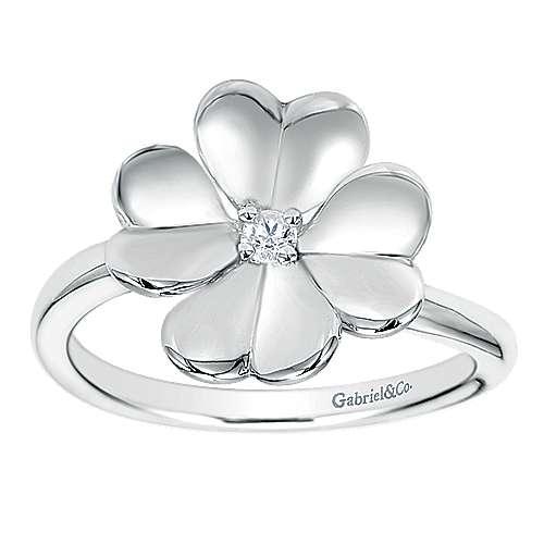 925 Silver White Sapphire Fashion Ladies