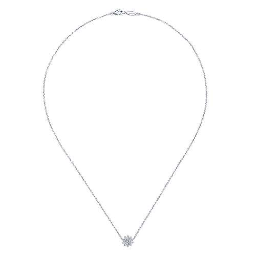 925 Silver White Sapphire Fashion Necklace angle 2