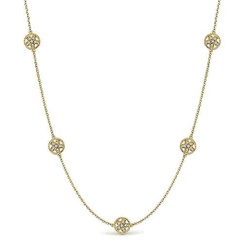 925 Silver Yellow Plated Infinite Gems Station Necklace angle 1