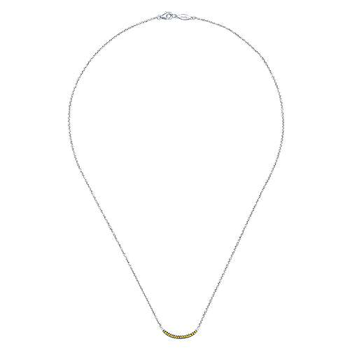 925 Silver Yellow Sapphire Fashion Necklace angle 2