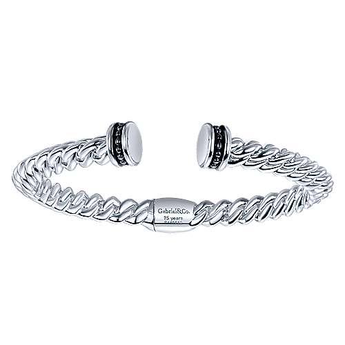 Gabriel - 925 Silver/stainless Steel Jubilee Bangle