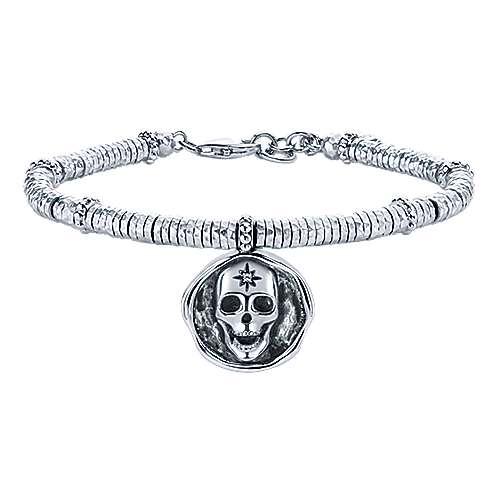 Gabriel - 925 Silver/stainless Steel Souviens Charm Bracelet