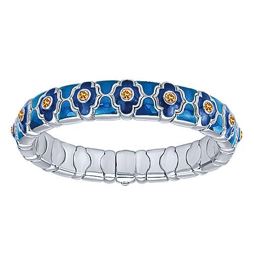 Gabriel - 925 Silver/stainless Steel Souviens Enamel Bangle