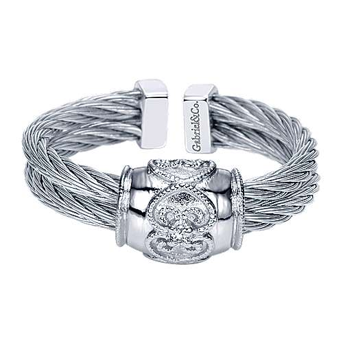 Gabriel - 925 Silver/stainless Steel Steel My Heart Fashion Ladies' Ring