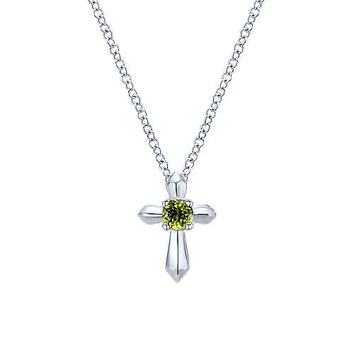 925 sterling silver round peridot cross necklace nk1696svjpe 925 sterling silver round peridot cross necklace mozeypictures Gallery
