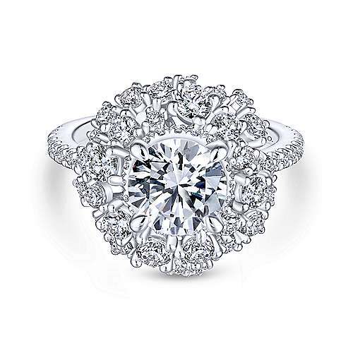 Gabriel - Ace 18k White Gold Round Halo Engagement Ring