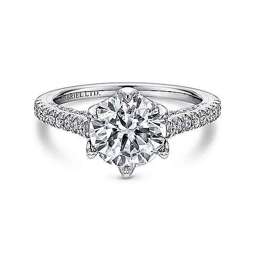 Gabriel - Adelaide Platinum Round Straight Engagement Ring