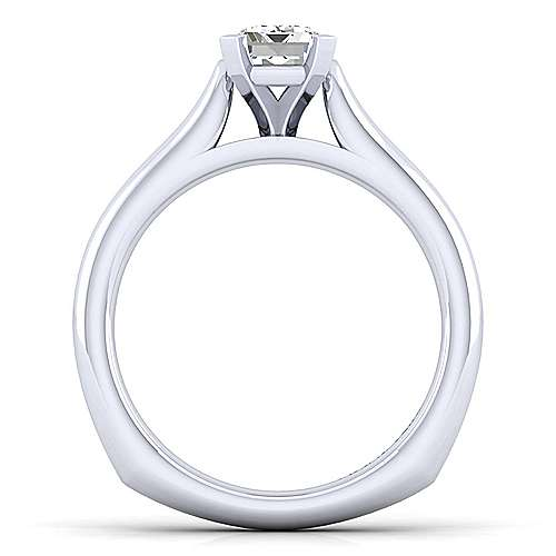 Allie 14k White Gold Emerald Cut Solitaire Engagement Ring angle 2