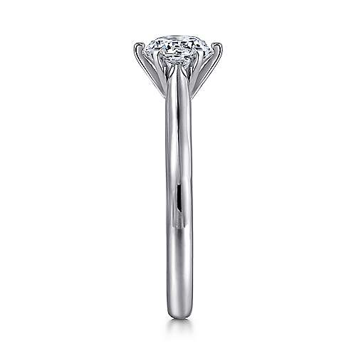 Allie 14k White Gold Round Solitaire Engagement Ring angle 5