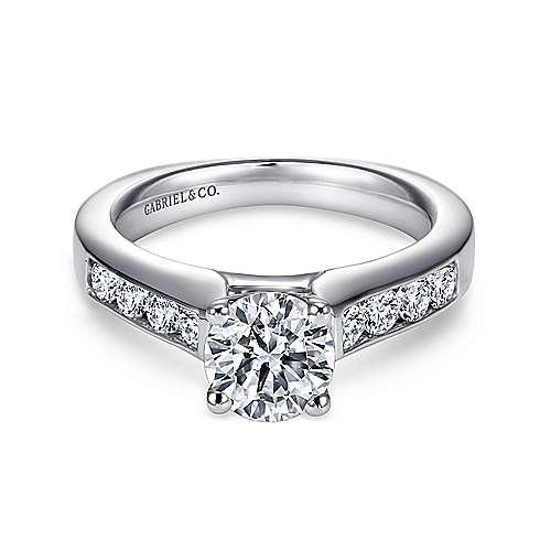Gabriel - Anderson Platinum Round Straight Engagement Ring