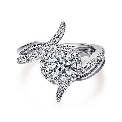 Gabriel - Andromeda Platinum Round Halo Engagement Ring