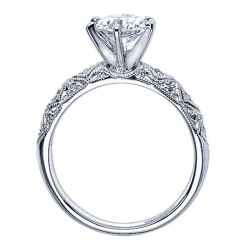 Anna 14k White Gold Round Straight Engagement Ring angle 2