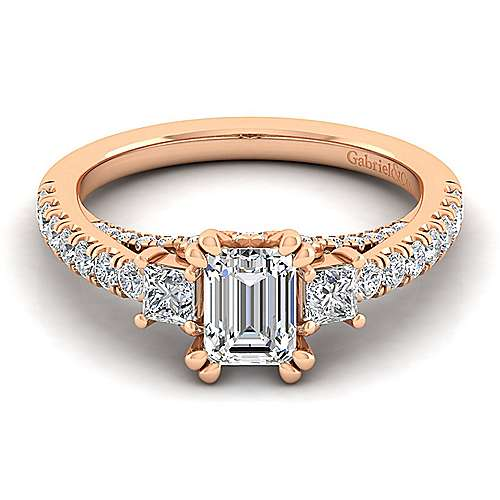 Emerald Cut Engagement Rings Rose Gold