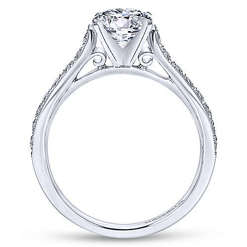Ashley 14k White Gold Round Straight Engagement Ring