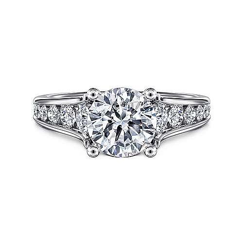 Aubrey 14k White Gold Round Straight Engagement Ring ... aba268d37