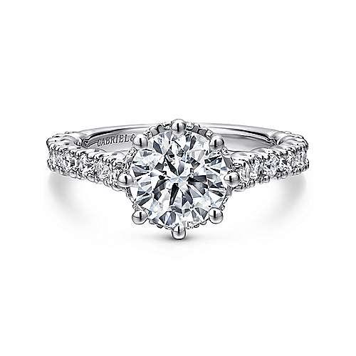 Gabriel - Augusta Platinum Round Straight Engagement Ring