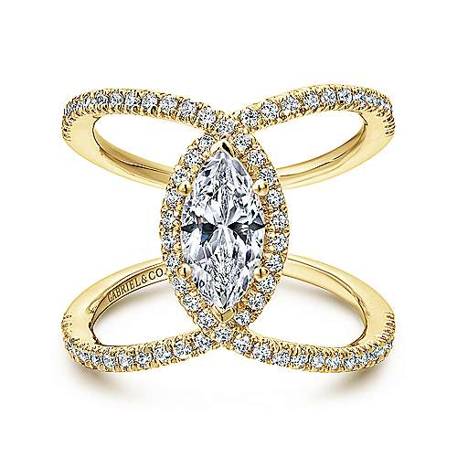 pave set claw yellow unusual diamond rings ring jewellery twist engagement gold pretty