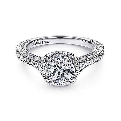 Gabriel - Bali Platinum Round Straight Engagement Ring