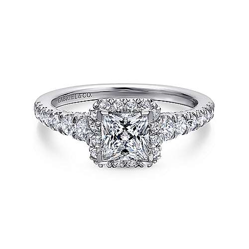 Gabriel - Balsam 14k White Gold Princess Cut Halo Engagement Ring