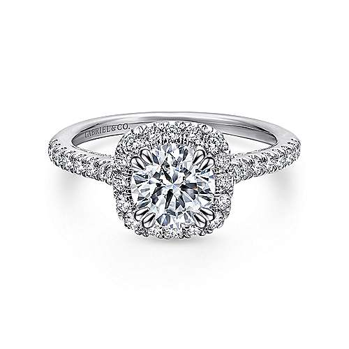 Gabriel - Balsam 14k White Gold Round Halo Engagement Ring