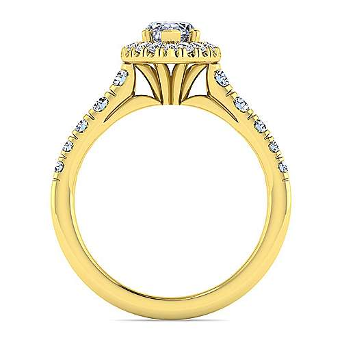 Beckett 14k Yellow Gold Marquise  Halo Engagement Ring angle 2
