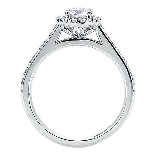 Bernadette 14k White Gold Round Halo Engagement Ring