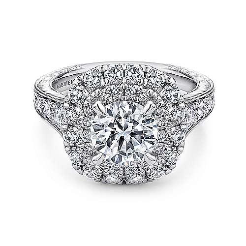 Gabriel - Bliss Platinum Round Halo Engagement Ring