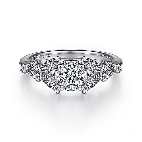 Bryce 14k White Gold Round Straight Engagement Ring