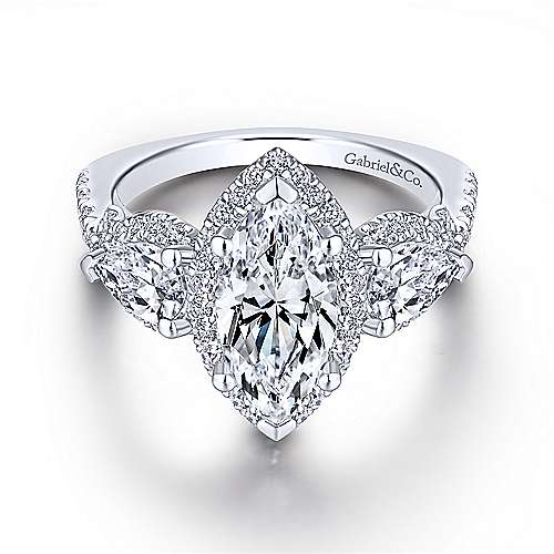 marquise enement rings gabriel co - Marquise Wedding Ring
