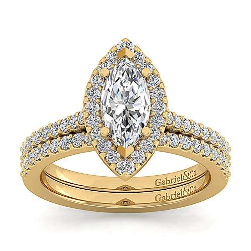 carly 14k yellow gold marquise halo engagement ring