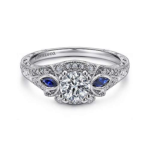 Gabriel - Carolina Platinum Round Halo Engagement Ring