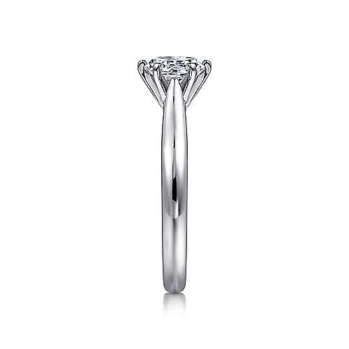 Cassie 14k White Gold Round Solitaire Engagement Ring angle 5