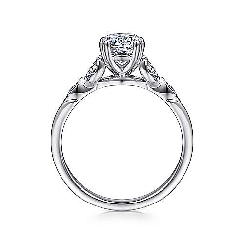 Celia Platinum Round Straight Engagement Ring