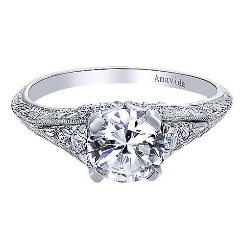 Gabriel - Cody Platinum Round Straight Engagement Ring