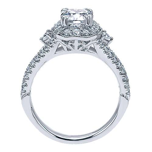 Colby 18k White Gold Oval Halo Engagement Ring angle 2