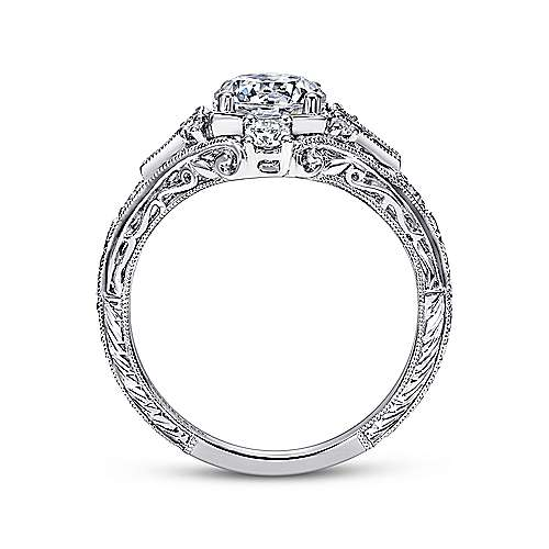 Coraline Platinum Round Halo Engagement Ring angle 2