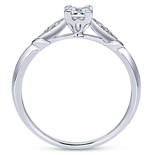 Cordelia 14k White Gold Princess Cut Straight Engagement Ring angle 2