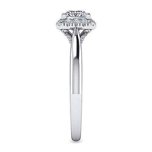 Cypress 14k White Gold Princess Cut Halo Engagement Ring angle 5