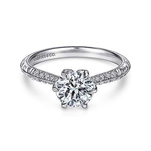 ring josephine diamond engagement straight rings amavida