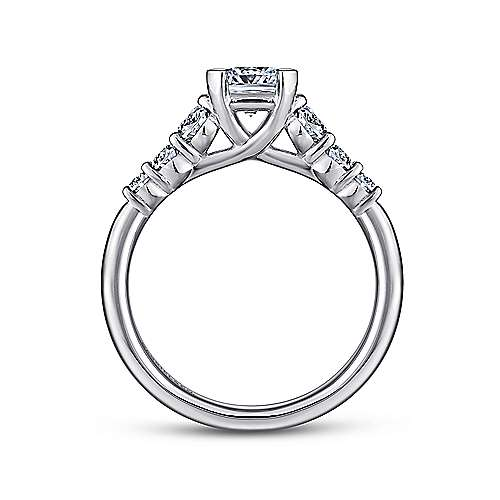 Darby 14k White Gold Cushion Cut Straight Engagement Ring angle 2