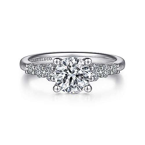 Gabriel - Darby Platinum Round Straight Engagement Ring