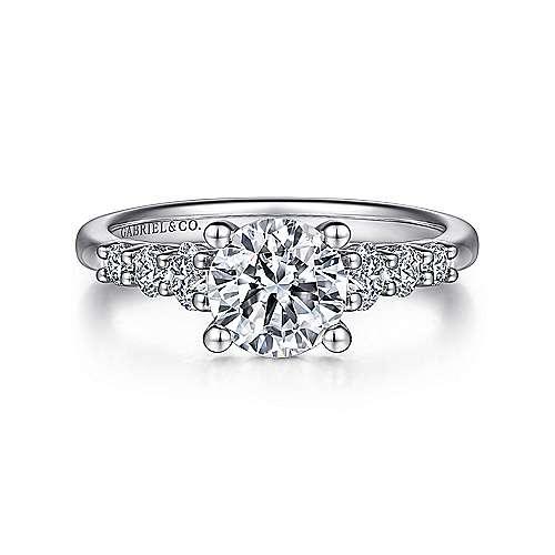 Darby Platinum Round Straight Engagement Ring angle 1